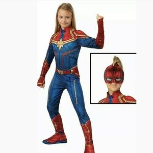Captain Marvel Girls Child Deluxe Padded Superhero